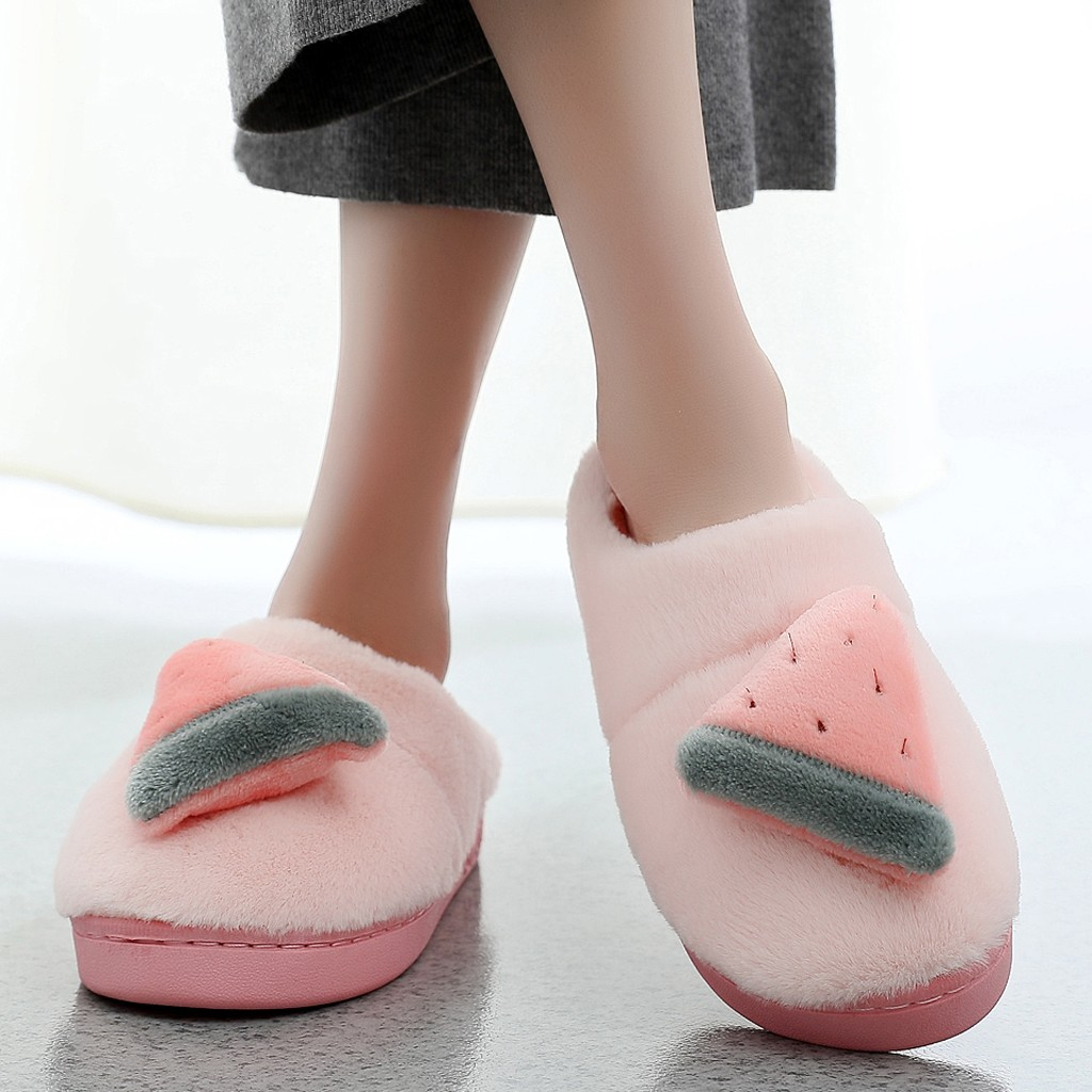 Jaycosin shoes woman winter shoes Warm home slippers women Bow Indoor Slippers Non-Slip Shoes Casual Snow Warm Slippers slides 2