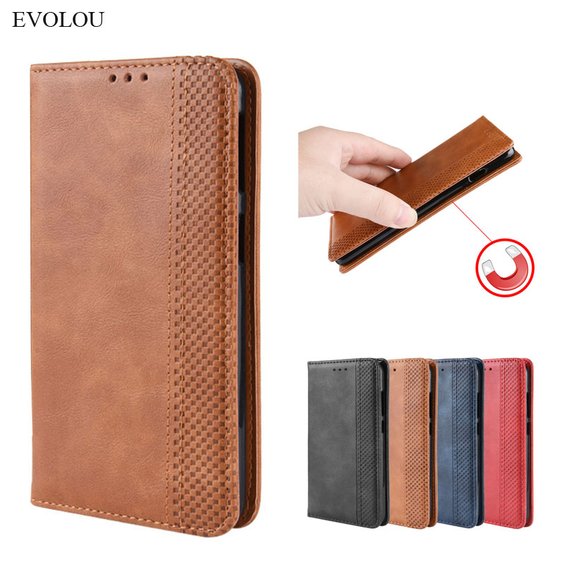 Retro <font><b>Flip</b></font> Book Leather <font><b>Cover</b></font> for <font><b>OnePlus</b></font> 7T Pro 6T 5T 3T case Magnetic <font><b>flip</b></font> wallet case for One Plus 7 6 5 3 Phone <font><b>cover</b></font> Funda image