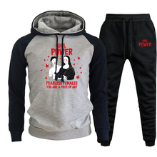 Hoodies Clothing Trousers Sweatshirts Power 2piece-Sets Winter Casual Fashion Mens Women