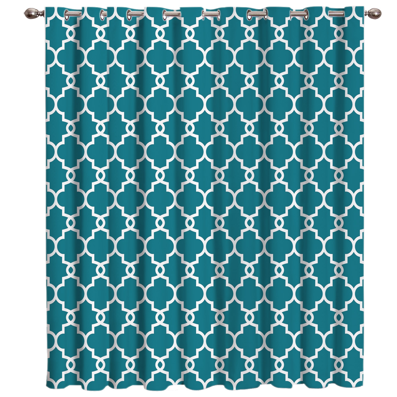 Permalink to Moroccan Blue Pattern Window Treatments Curtains Valance Window Blinds Living Room Bathroom Bedroom Drapes Window Treatment