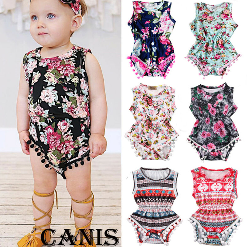 2019 New Summer Newborn Kid Baby Girls Layered Bodysuits Ruffles Clothes Sleeveless Tutu Dress Cotton Linen Sunsuit Outfit 0 24M in Clothing Sets from Mother Kids