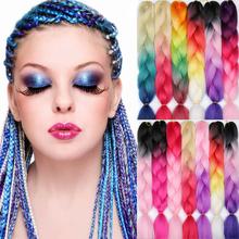 MERISIHAIR 24 inch Jumbo Braids Long Ombre Jumbo Synthetic Braiding Hair Crochet Blonde Pink Blue Grey Hair Extensions African cheap High Temperature Fiber CN(Origin) 1strands pack