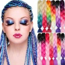 MERISIHAIR 24 дюйма Джамбо косы длинные Омбре Джамбо синтетические плетеные волосы кроше светлые розовые синие серые волосы для наращивания в аф...