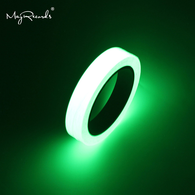 Free Shipping One Roll 1cm*10M Luminous Tape Self adhesive Glow In The Dark Safety Stage Home Decorations Warning Tape