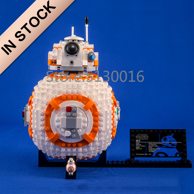 In Stock 10906 Star Series Wars The VIII BB-8 1106pcs Model Building Blocks Compatible 05128 75187 Toys Bricks Robot 35020