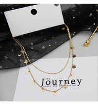Boho Cute Butterfly Choker Necklace For Women Gold color Double Layers Chain Statement Collar Female Chocker Necklace Jewelry chic butterfly choker necklace for women gold silver chain statement collar female chocker best shining jewelry party 2020 new