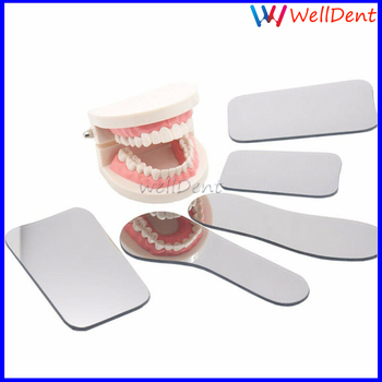 5PCS Dental Photography Orthodonti 2side Photographic Glass Mirror Reflector