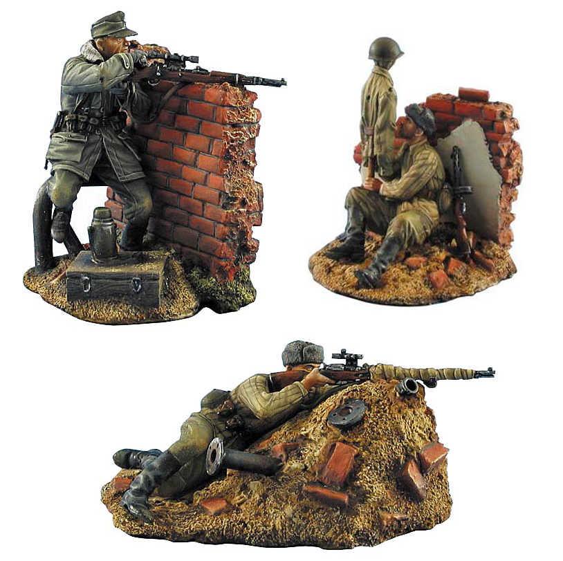 1//35 Resin Figure Model Kit German Soldiers Snipers WWI Unpainted Unassambled