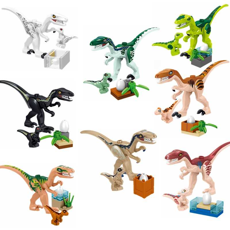 Toys & Hobbies Legoing Dinosaur Building Block Velociraptor Charlie Echo Dilophosaurus Blocks Dinosaurs Legoings Kids Toy   Gift