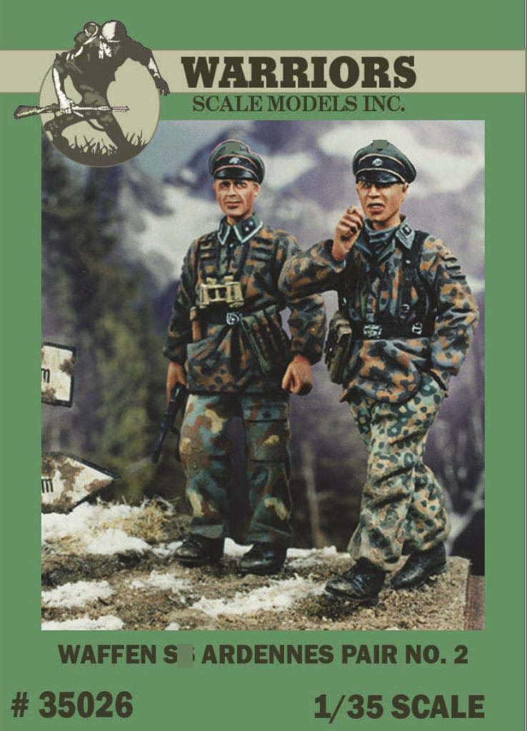 1/35 German Waffen Ardennes Pair No.2 - 2 Resin Figures Kits WARRIORS #35026