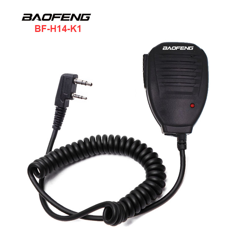 BAOFENG Original Handheld Mic H14-K1 For Two Way Radio/Walkie Talkie UV-5R Serial UV-82 UV-B5 UV-B6 UV-3R