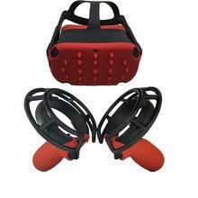 3в1 сенсорный VR контроллер силиконовый чехол+ защитные клетки+ Защитная крышка для шлема для OCULUS Quest/Rift S VR аксессуары