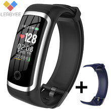 Lerbyee Smart Band M4 Pedometer Sleep Monitor Fitness Tracker Blood Pressure Men Women Smart Bracelet Wristband Call Reminder