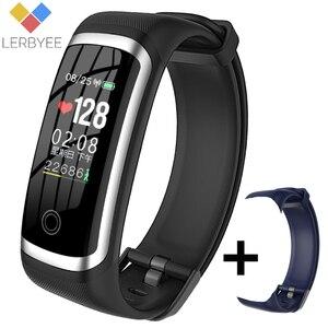 Image 1 - Lerbyee pulsera inteligente M4 con podómetro, monitor, seguidor Fitness del sueño y la presión sanguínea, para hombre y mujer, recordatorio de llamadas