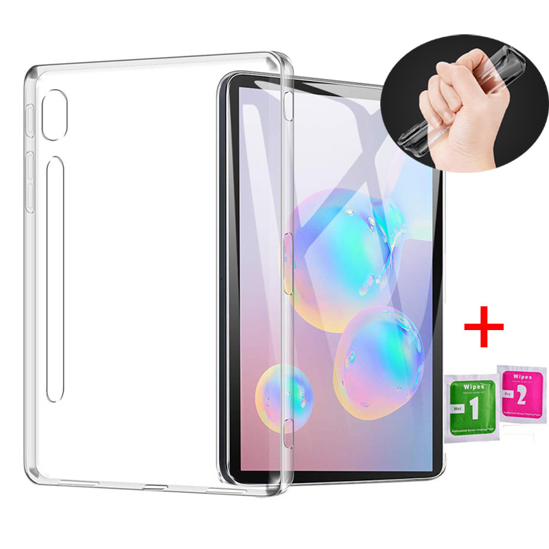 For Samsung Galaxy Tab S6 10.5 2019 TPU Case Silicon Clear Soft Case for Samsung Tab S6 SM-T860 SM-T865 Transparent Back Cover image