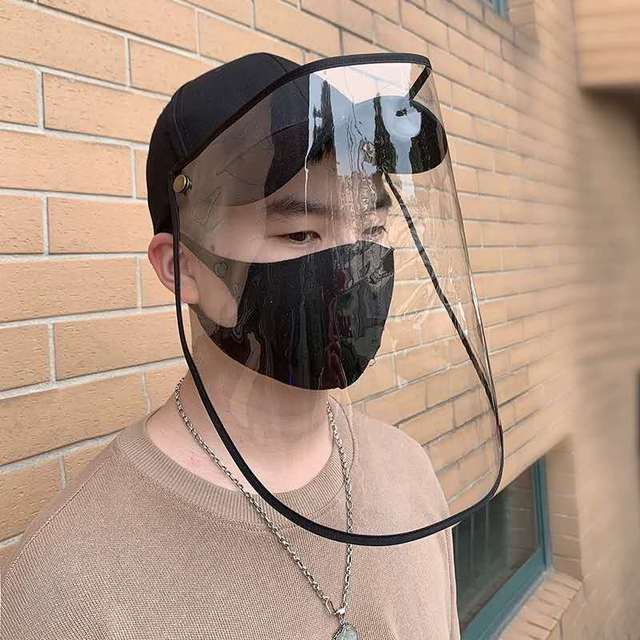 New Face Shield Hat Head Eye Protective Cap Anti-saliva Anti-Dust Hat Removable Face Cover Baseball Cap Dropshipping 5