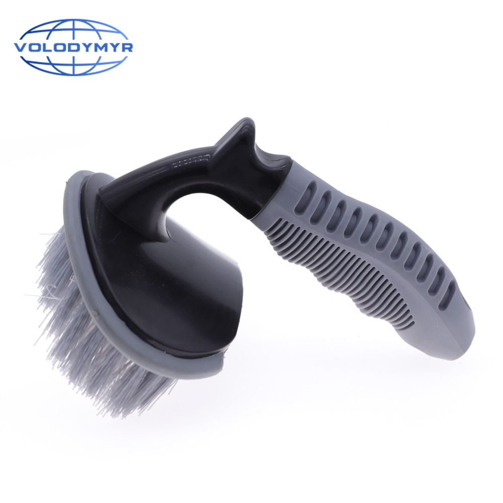 <font><b>Wheel</b></font> <font><b>Brush</b></font> Tire <font><b>Cleaner</b></font> Universal TPR Handle with Super Stiff Bristles Detailing Tools for <font><b>Car</b></font> Cleaning Auto Washing Detail image