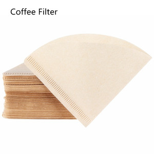 100 Pieces 1-2 Cup Wooden Hand V60 Drip Paper Coffee Filter 102 coffee strainer Bag Espresso Tea Infuser Accessories(China)