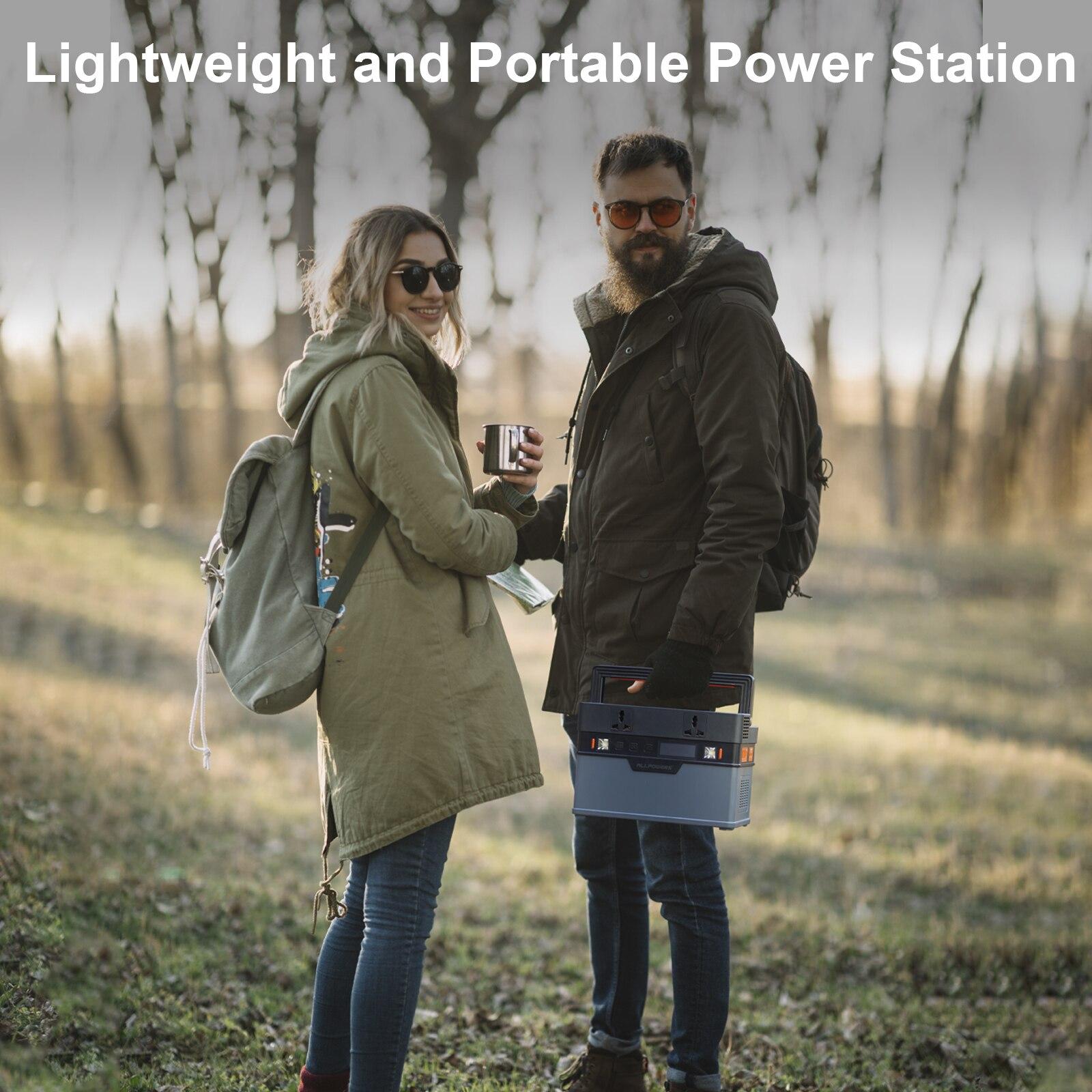 Allpowers Solar Generator, 110V/220V Portable Power Station, mobiele Emergency Backup Power Met 18V Opvouwbare Solar Panel Charger 6