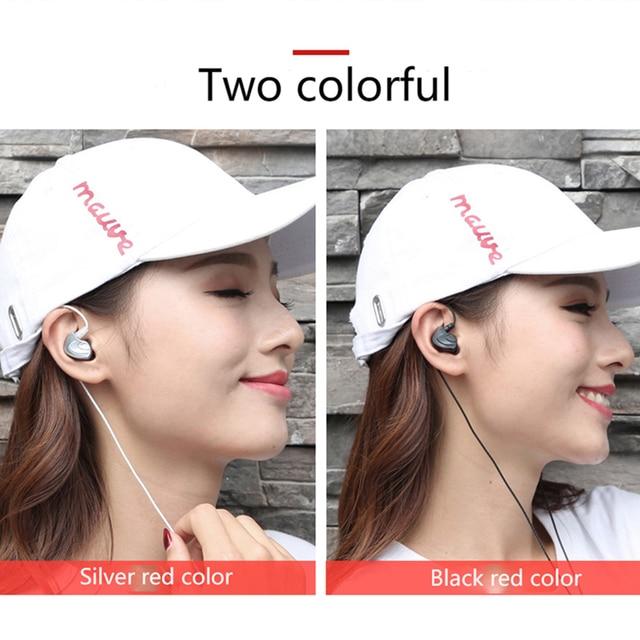 Écouteurs filaires dans loreille métal sport téléphone écouteur extra basse ligne droite PC subwoofer casque avec micro pour tous les téléphones 3.5mm