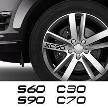 Autocollants en vinyle pour jantes de voiture, pour Volvo S60 XC90 V40 V50 V60 S90 V90 XC60 XC40 AWD T6 C30 C70 S80 V70 XC70