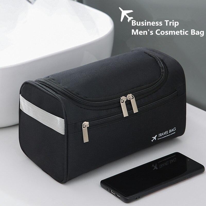 Bolsa para cosméticos, bolsa de viagem para homens e mulheres, lavagem de negócios, caixa de maquiagem, itens de higiene pessoal, organizador de armazenamento