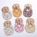 3Pcs Baby Stirnband Quaste Speichel Handtuch Floral Drucken Newborn Doppel Seite Lätzchen Jungen Mädchen Bandana Spucktücher Fütterung Smock zeug