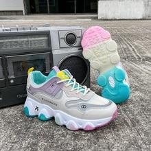 Women Designer Sneakers Yellow Girls Casual Shoes Ultralight Jogging Tenis Feminino Breathable