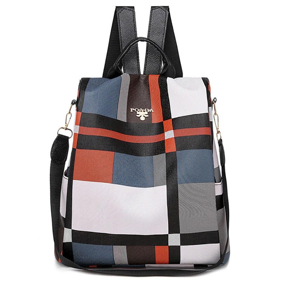 Women's Waterproof Anti Theft Backpack Oxford Multifunction Outdoor Travel Backpack Large Capacity Girl School Bags For Teenage