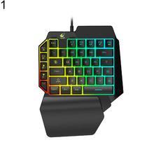 DishyKooker One-Handed Keyboard Left-Hand Gaming 39-Key Full Key USB Interface Support for Backlight