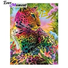 Diamond Painting Decor Mosaic Leopard-Picture Rhinestone Ever Moment Full-Square ASF1816