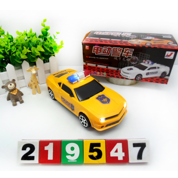 Hot Sales 8225-23 Electric Light Model Police Car Children'S Educational Early Education Model Toy Car Hot Selling