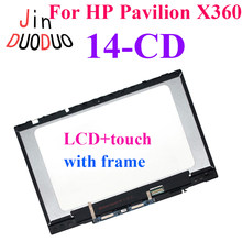 For HP Pavilion X360 14-CD 14 CD LCD Display Laptop Touch Screen Assembly Digitizer With Frame Replacement