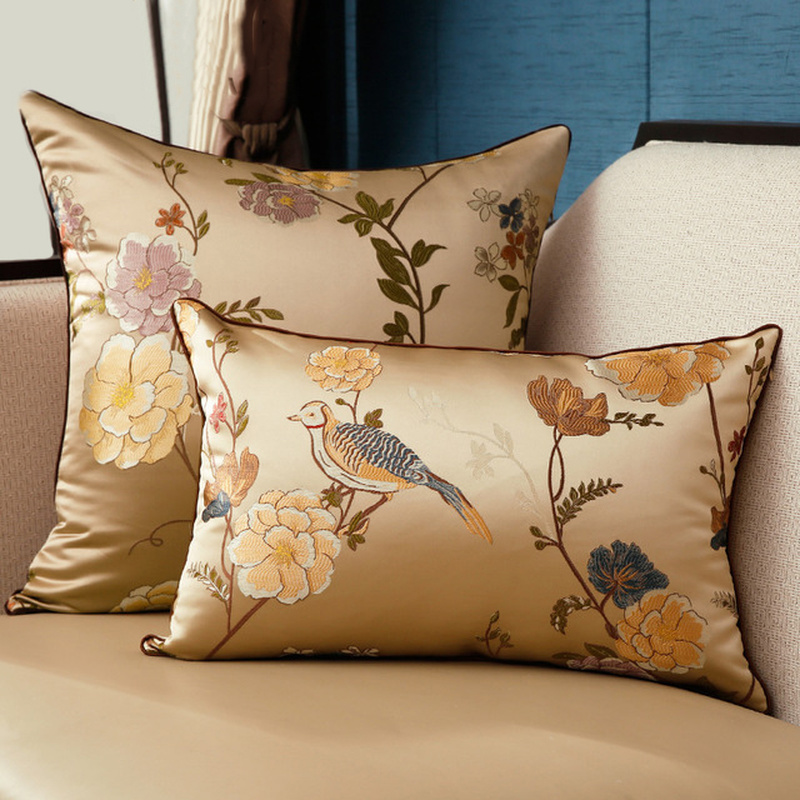 Us 8 83 46 Off New Cushion Cover Jacquard Pillowcase Multiple Sizes Decorative Cushions For Sofa Bed Throw Pillows Luxury Chinese Pillow Covers On