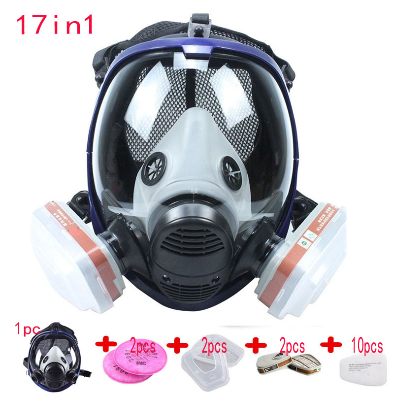 9/15/17 In 1 Suit Painting Spraying Chemcial Respirator Same For 3M 6800 Gas Mask Full Face Facepiece Respirator