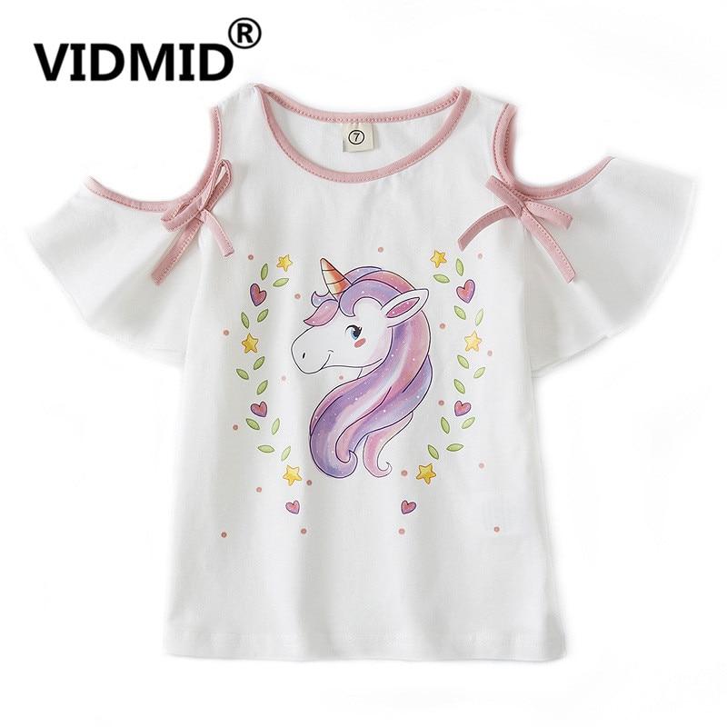 VIDMID Children T-shirts Baby Girls Cotton T-shirts Tees Baby & Kids Summer Children Clothes Kids Cartoon Short Sleeve 4132 01
