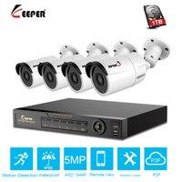 Хранитель 4CH 5MP DVR AHD камера CCTV комплект наружная камера система безопасности IP видео наблюдение комплект P2P HD ночное видение H.265 IR-Cut