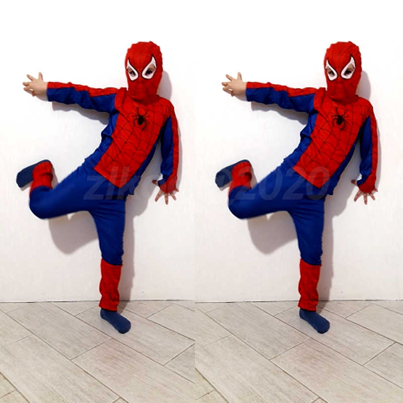 spiderman costume girl boy child the spider man mask costume suit kids boys spandex black red halloween star wars Cosplay Anime