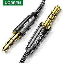 UGREEN 3.5mm kabel Audio Stereo Aux Jack na kabel typu Jack 90 stopni kątowy przewód pomocniczy z męskiego na męskie kabel głośnik do komputera