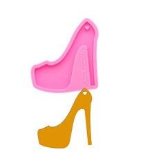 Блестящие брелоки на высоком каблуке силиконовые формы «сделай