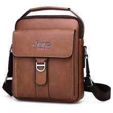 Luxury Brand JEEP Men Messenger Bags Leather Shoulder