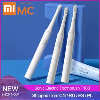 Xiaomi Mijia T100 elektryczna soniczna szczoteczka do zębów dla dorosłych wodoodporny ultradźwiękowy automatyczna szczoteczka do zębów USB akumulator tanie i dobre opinie 3 70 x 9 90 x 25 40 cm 1 46 x 3 9 x 10 inches Elektryczne szczoteczki do zębów Fala akustyczna T100 Electric Toothbrush