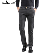 Hot Sale 2019 Autumn Formal Mens Cotton Trousers Micro-elastic Loose Male Breathable Full-length Pants Officewear Clothing 40