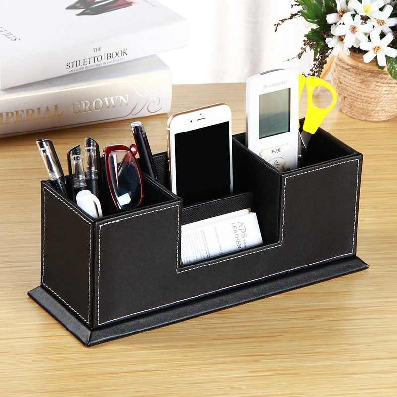 Настольный канцелярский органайзер, Коробка Для Хранения ручек, карандашей, визиток, подставка для мобильного телефона/пульта дистанционного управления, офисные принадлежности