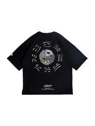 Zomer mannelijke en Vrouwelijke t-shirts Skateboard Tee Jongen Skate Tshirt Tops 100% katoen Mannen Rock Hip hop Street wear fashion t-shirt