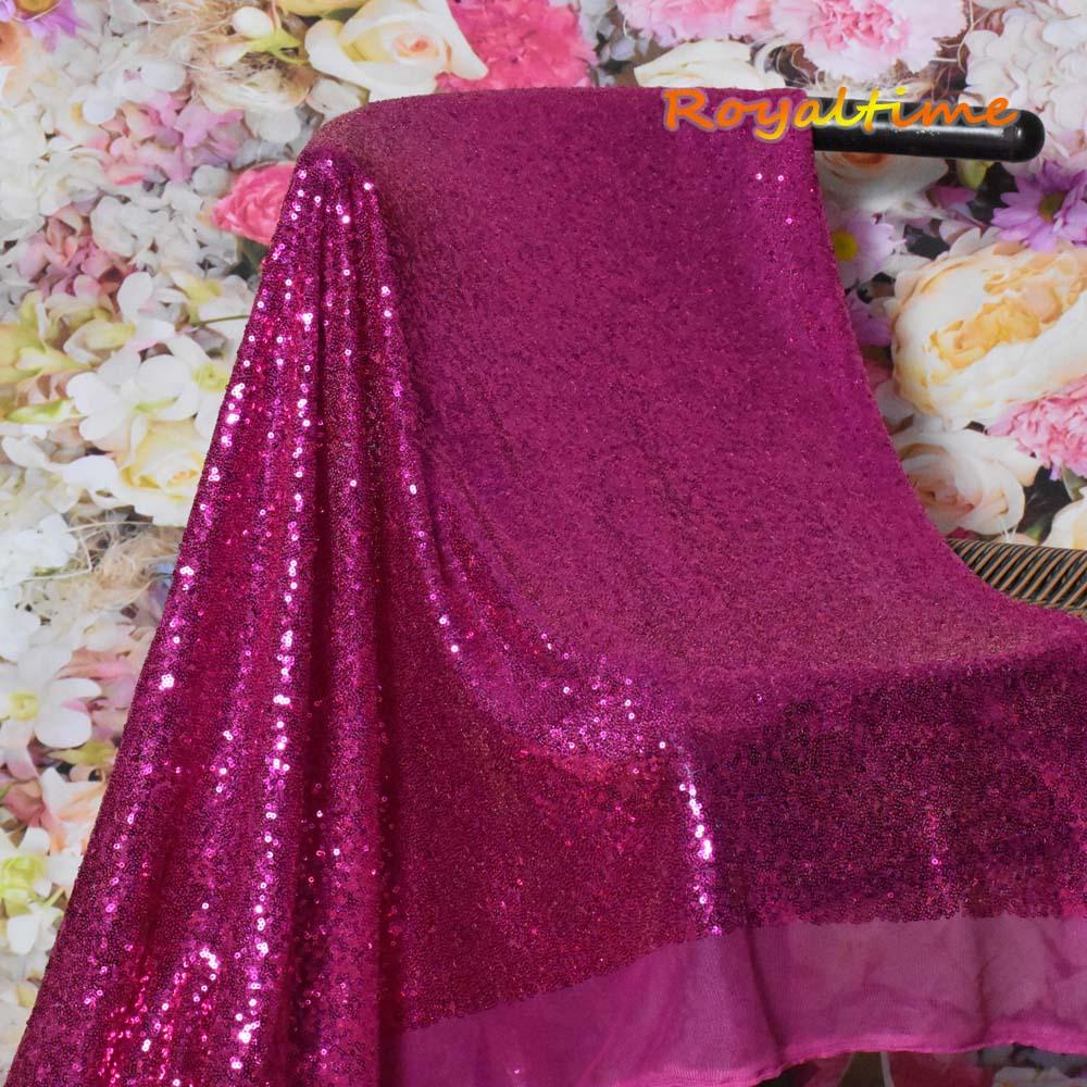 Fuchsia Sequin Fabric 004