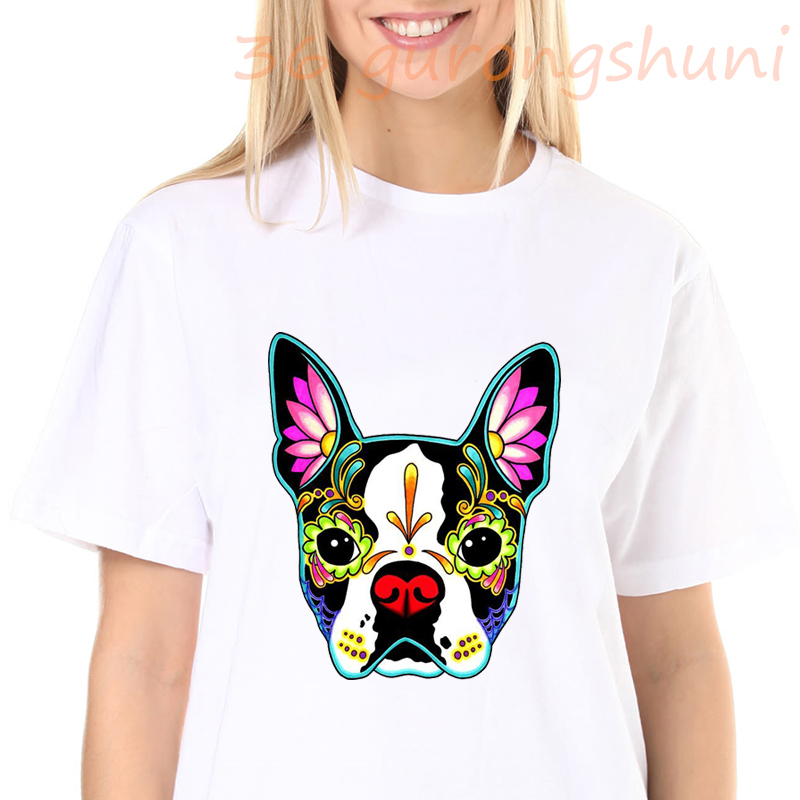 harry styles <font><b>tshirt</b></font> Boston Terrier cow print graphic tee tops goth <font><b>art</b></font> <font><b>dog</b></font> t shirt tops women 2020 clothes harajuku shirts punk image