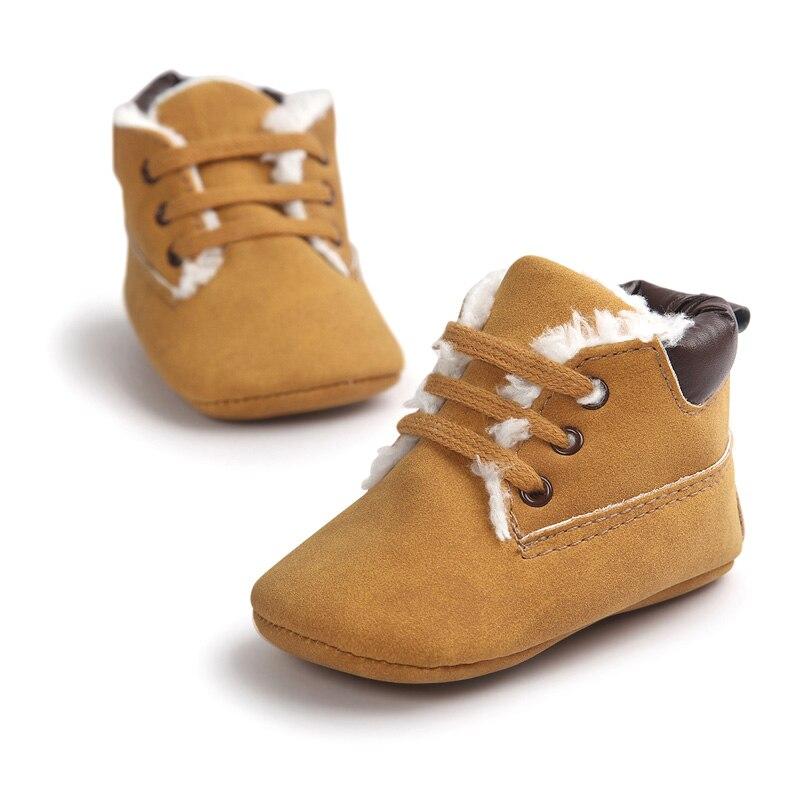 New Solid Infant Toddler Boy Kids Prewalker First Walkers Winter Newborn Baby Super Warm Soft Bottom Anti-slip Classic Boots