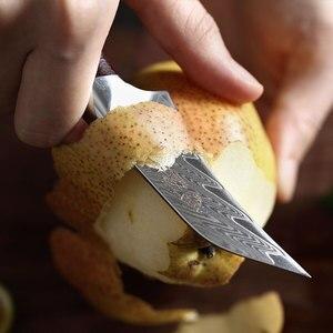 Image 3 - YARENH 3 Polegada Faca de Frutas   Melhores Facas de Cozinha   Chef Fruit Peeling Knife   67 Camadas de Aço de Damasco Japonês   Alça de jacarandá