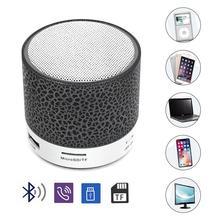 Bluetooth Динамик мини Беспроводной громкий Динамик трещины LED TF карта USB Сабвуфер Портативный MP3 музыки звук колонки для ПК мобильный телефон